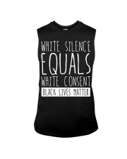 white silence equals white consent Sleeveless Tee thumbnail