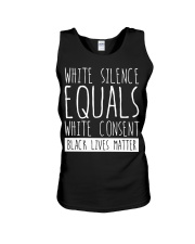 white silence equals white consent Unisex Tank thumbnail