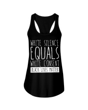 white silence equals white consent Ladies Flowy Tank thumbnail