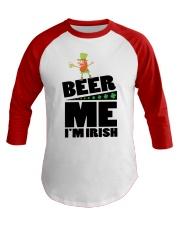 Beer me i'm irish Baseball Tee thumbnail