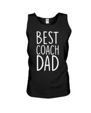 Best coach dad Unisex Tank thumbnail