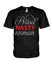 Proud nasty woman V-Neck T-Shirt thumbnail