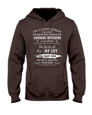 i'm a lucky woman Hooded Sweatshirt front