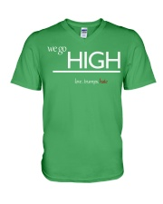 We go high V-Neck T-Shirt front