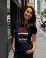 YES I'M Crazy MOM Ladies T-Shirt lifestyle-women-crewneck-front-5
