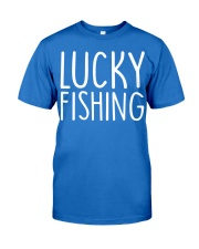 Lucky fishing Premium Fit Mens Tee front