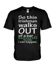 Irishman walks out V-Neck T-Shirt thumbnail