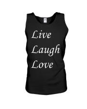 Live Laugh Love Unisex Tank thumbnail