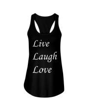 Live Laugh Love Ladies Flowy Tank thumbnail