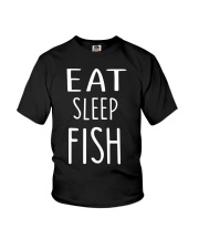 Eat Sleep Fish Youth T-Shirt thumbnail