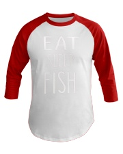 Eat Sleep Fish Baseball Tee thumbnail