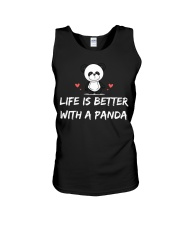 Life is better with a panda Unisex Tank thumbnail