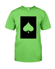 Spades Playing Card Classic T-Shirt front