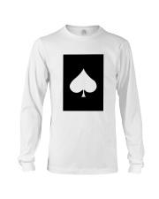 Spades Playing Card Long Sleeve Tee thumbnail