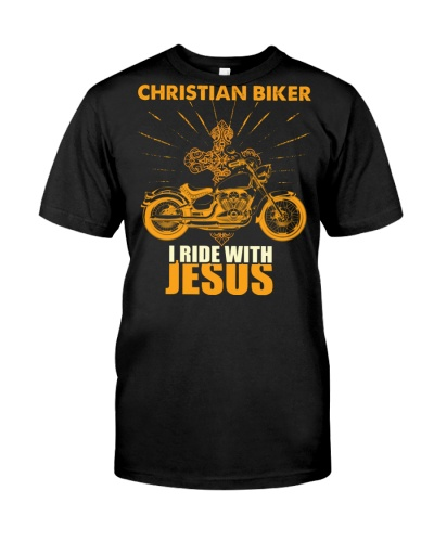 I Ride With Jesus Christian Bikers' T-Shirt