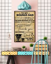To My Bonus Dad 11x17 Poster lifestyle-poster-6