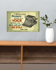 I write only bacause 17x11 Poster poster-landscape-17x11-lifestyle-24