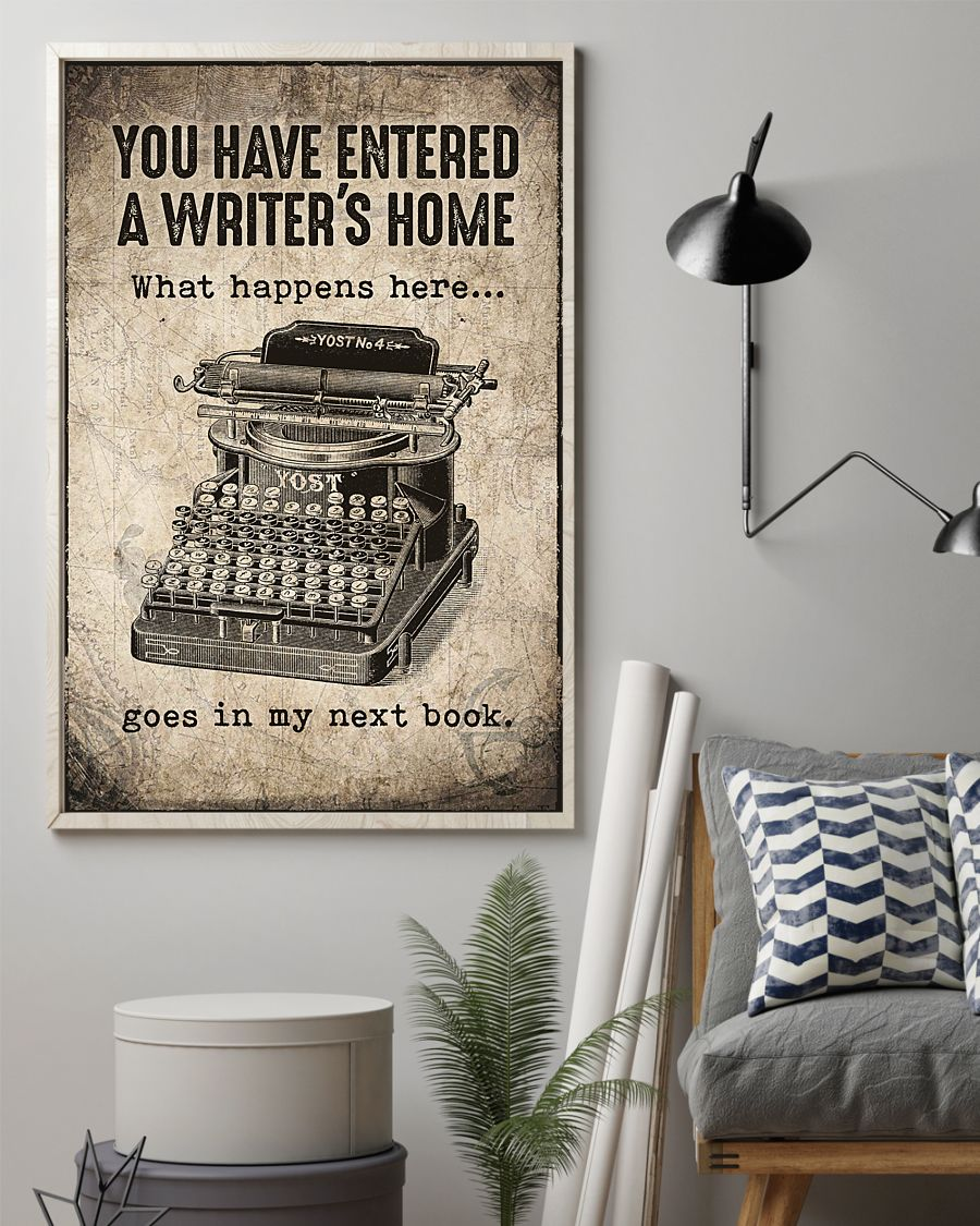You have entered a writer's home poster