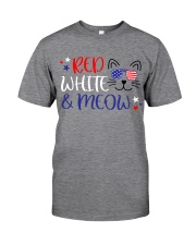 Red white and meow Classic T-Shirt front