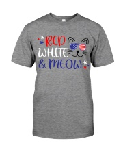 Red white and meow Premium Fit Mens Tee thumbnail