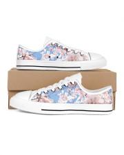 Cherry Blossom Men's Low Top White Shoes thumbnail