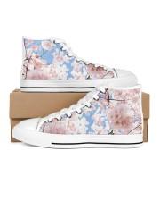Cherry Blossom Women's High Top White Shoes thumbnail