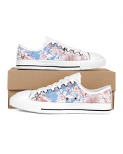 Cherry Blossom Women's Low Top White Shoes inside-right-outside-right
