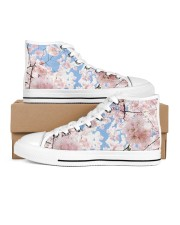 Cherry Blossom Men's High Top White Shoes thumbnail