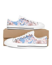 Cherry Blossom Men's Low Top White Shoes thumbnail