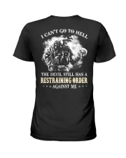 The devil still has a restraining Ladies T-Shirt thumbnail