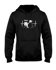 DRUM HEARTBEAT WE LOVE DRUMS MUSIC GIFT FOR DRUMME Hooded Sweatshirt thumbnail