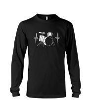 DRUM HEARTBEAT WE LOVE DRUMS MUSIC GIFT FOR DRUMME Long Sleeve Tee thumbnail