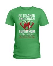 Pe Teacher And Coach - Super Mom Job Ladies T-Shirt thumbnail