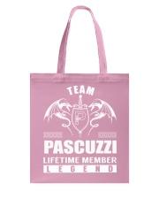 Team PASCUZZI Lifetime Member - Name Shirts Tote Bag thumbnail