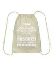 Team PASCUZZI Lifetime Member - Name Shirts Drawstring Bag thumbnail