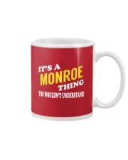 Its a MONROE Thing - Name Shirts Mug thumbnail