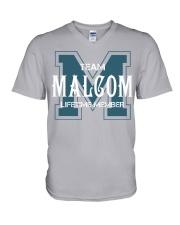 Team MALCOM - Lifetime Member V-Neck T-Shirt thumbnail