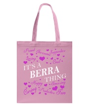 Its a BERRA Thing - Name Shirts Tote Bag tile