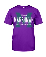 Team MARSHMAN - Lifetime Member Classic T-Shirt thumbnail