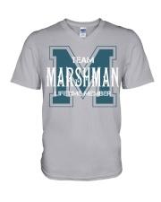 Team MARSHMAN - Lifetime Member V-Neck T-Shirt thumbnail