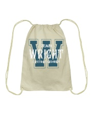 Team WRIGHT - Lifetime Member Drawstring Bag thumbnail