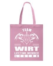 Team WIRT Lifetime Member - Name Shirts Tote Bag thumbnail
