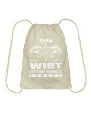 Team WIRT Lifetime Member - Name Shirts Drawstring Bag thumbnail