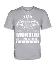 Team MONTIJO Lifetime Member - Name Shirts V-Neck T-Shirt thumbnail