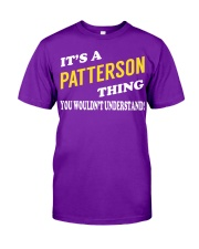 Its a PATTERSON Thing - Name Shirts Classic T-Shirt tile