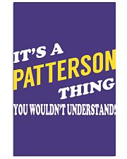 Its a PATTERSON Thing - Name Shirts 11x17 Poster thumbnail