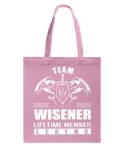 Team WISENER Lifetime Member - Name Shirts Tote Bag thumbnail