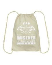 Team WISENER Lifetime Member - Name Shirts Drawstring Bag thumbnail