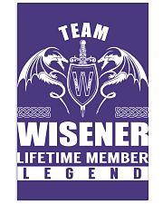 Team WISENER Lifetime Member - Name Shirts 11x17 Poster thumbnail