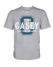 Team CASEY - Lifetime Member V-Neck T-Shirt thumbnail